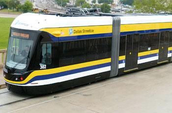 Sube al tranvía en Dallas